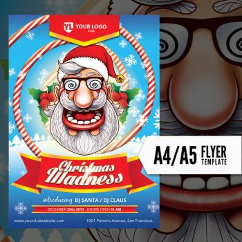 Christmas madness - Flyer Template by doghead