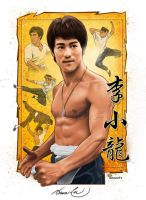 Bruce Lee by ted1air