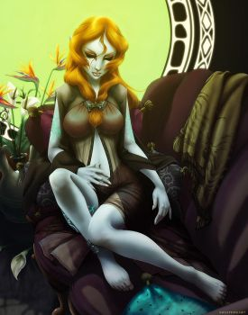 Twilight Princess-Sleepy Midna by ghostfire