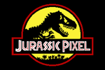 Jurassic Pixel (Yellow) by HuntersAndPrey