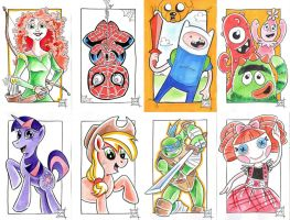 Christmas Sketch Cards by MBrazee
