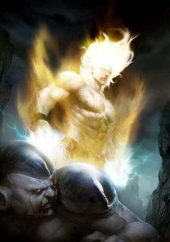 Super Saiyan vs Frieza by Creative--Artists