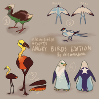 Angry Bird Adoptables (open) by OhLemonshark