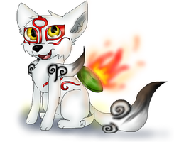 Chibi Okami by PlagueDogs123