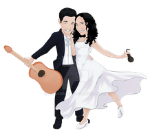 Wedding caricature submission by LeoSerafim