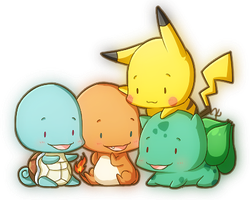 Tiny Kanto Starters by KevKeaf