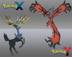 Yveltal vs Xerneas by charlieXe