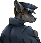 Chat Bust - Officer at Work by PencilBones