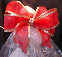 Red Gold Christmas Bow 1 by FantasyStock