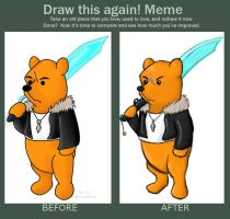 Before and After: SquallPooh by KariOhki