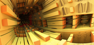 Wooden Tunnel by Absork