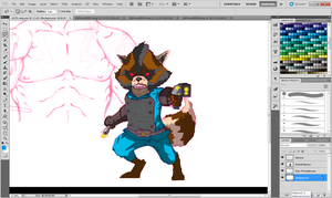 Guardians of The Galaxy Wip: Rocket Racoon colors by Marvelzukas