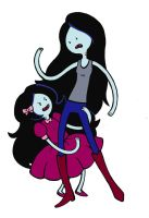 Marceline and Rosalie by KickMePlease