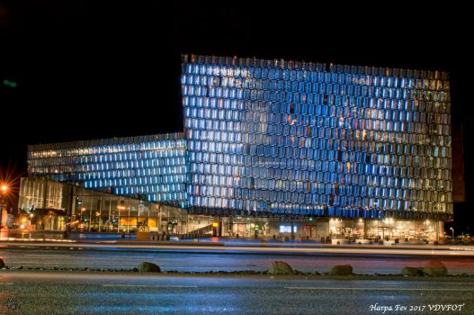 Harpa Concert Hall and Conference Centre by Night by miki-flash