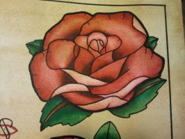 Tattoo Flash: Neo-Traditional Rose 02 by Bass-Slinger