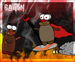 Moleman And Moledevil by bacon111