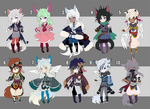 2015_AUGUST CHIBI ADOPTABLE BATCH 1/10 [OPEN] by kura-ou