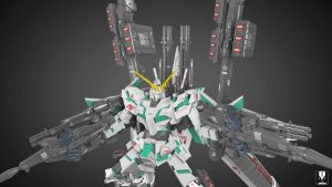 FA Unicorn Gundam by zipbox