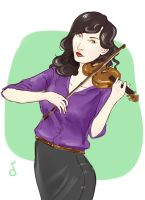 Semirealistic Fem!Sherlock is Playing Violin by kkbook