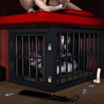 Nina hogtied and caged by her master by hookywooky
