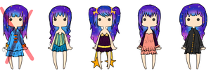 25 Points Galaxy Hair Set [3/5 OPEN] by GalaxyDen