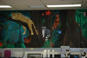 Giant Rainforest Mural pt 2 by PonderosaPower