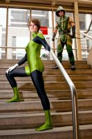 Green Lantern and Green Arrow by dangerousladies