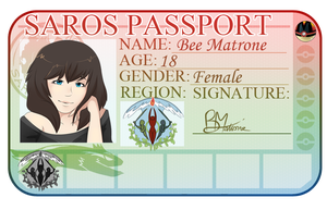 Bee passport by tootflap