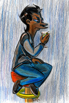 Drinking Alone by MWaters