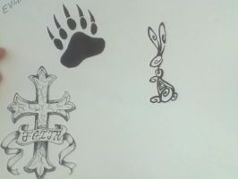 Tattoo Designs Set 1 by XxRoseAlchemistxX