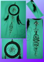Dreamcatcher Black Silver Star by LadyPapillon85