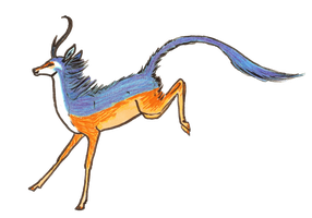 Transparent Kingfisher Unicorn by MommaCabbit