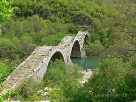 Old Three Part Bridge 0r Kalogerikos Bridge by Hansmar