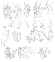Dragon Art Study by Tsitra360