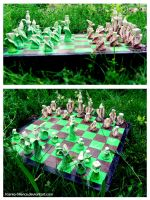 Wild Grasses Chess Set by ksenyan