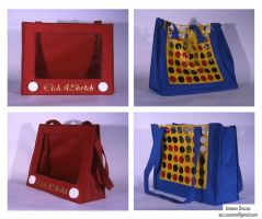 EtchaSketch and Connect4 Totes by AOZcouture