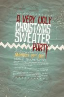 Flyer: Christmas Sweater Party by stuckwithpins