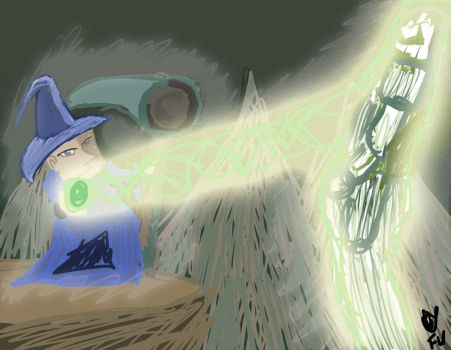 The Wizard Stands by AndThreeForTheWin