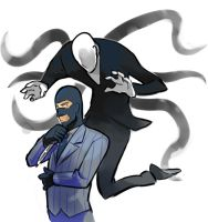 blu-Spy and Slenderman by EunDari