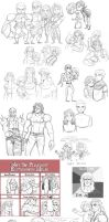 fist of the northstar-doodles2 by spoonybards