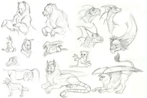 MLP Creature Sketchdump 1 by Earthsong9405