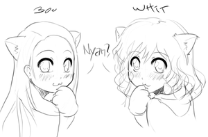 Boo and Whit Nyan by MLeth