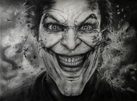 Joker drawing by HGAlba