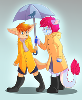 Rainy Day [Commission] by MonochromeAgent