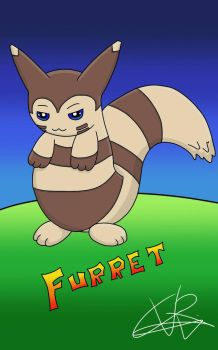 pokemon Go Furret  really tired XD by ConceivedRaptor