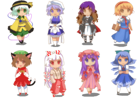 Touhou Chibi collection 1 by mykyo