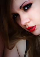Red lips 2 by cristimilan7