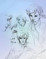 Sherlock sketch by ymymy