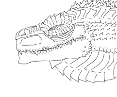 Gojira Free lineart by Redspets