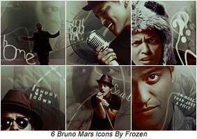 6 Bruno Mars Icons by Itsea7